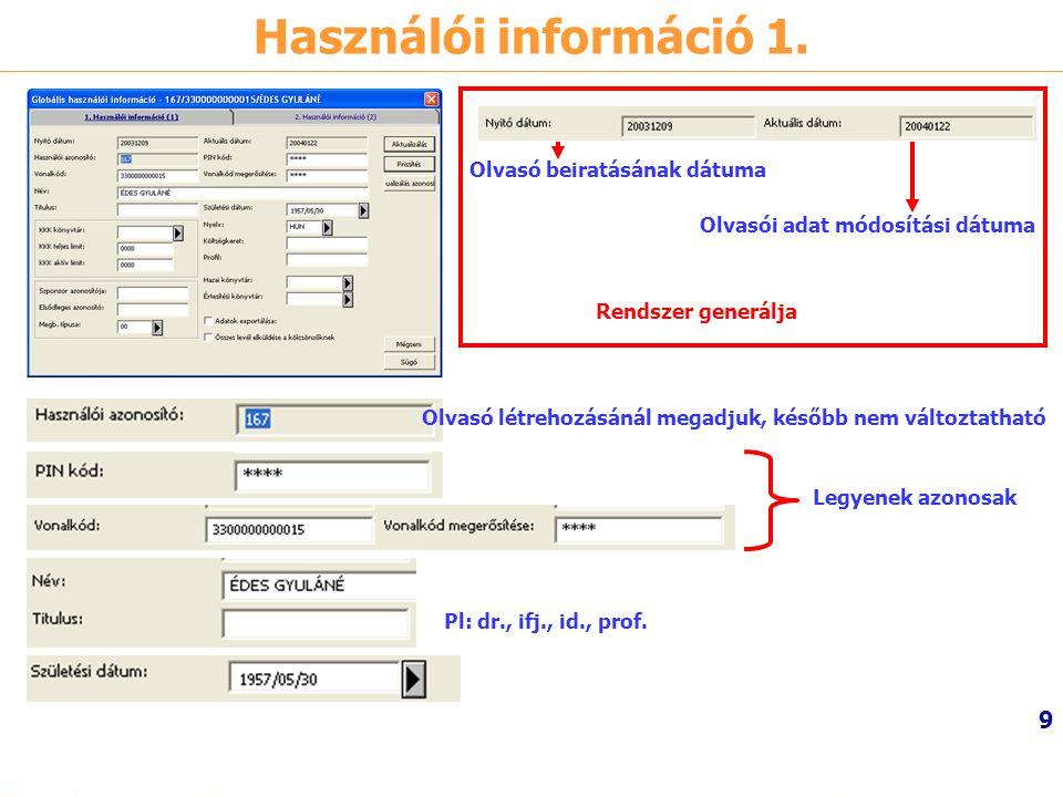 10 Használói információ 2.
