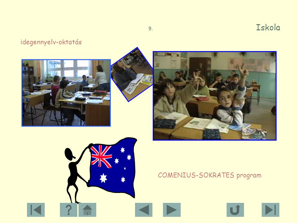 9. Iskola idegennyelv-oktatás COMENIUS-SOKRATES program