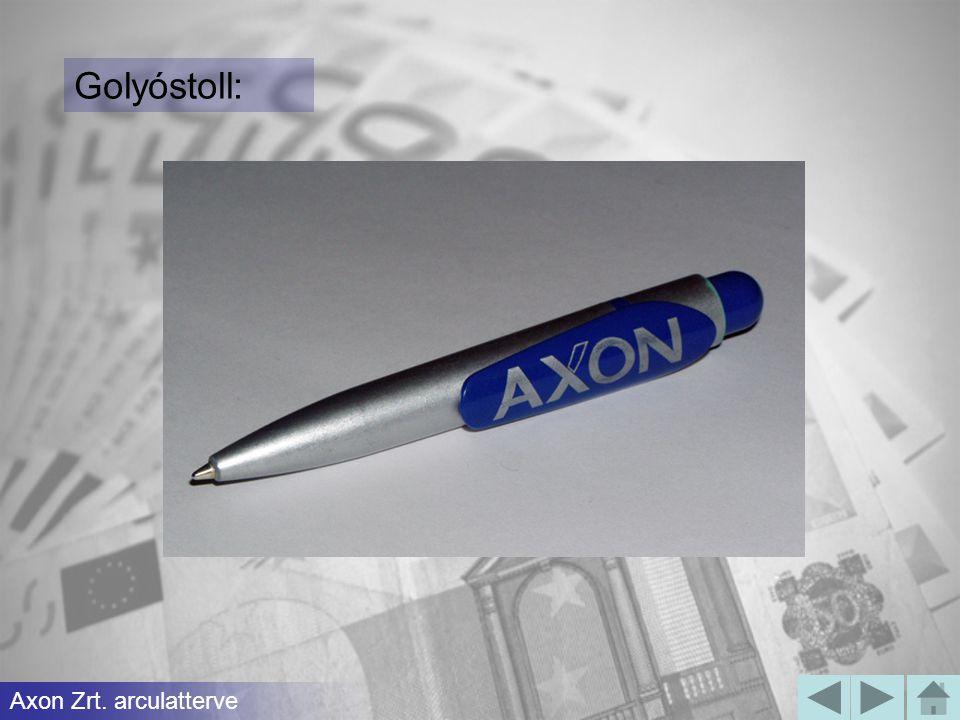 Golyóstoll: Axon Zrt. arculatterve