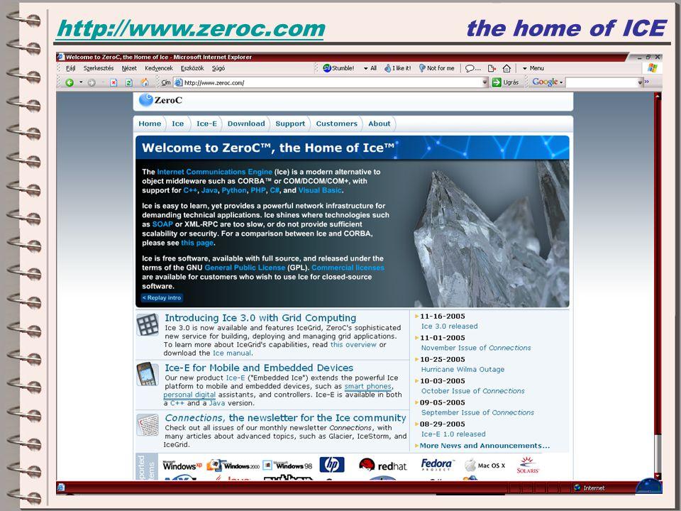http://www.zeroc.comhttp://www.zeroc.comthe home of ICE