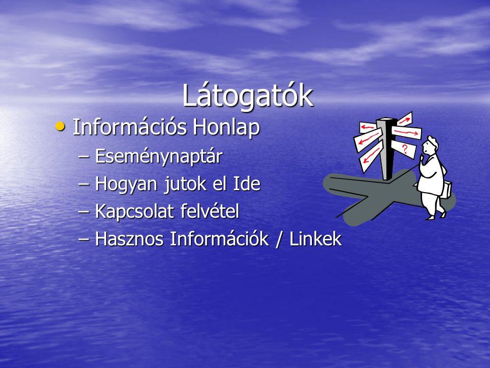 Látogatók Információs Honlap Információs Honlap – Eseménynaptár – Hogyan jutok el Ide – Kapcsolat felvétel – Hasznos Információk / Linkek