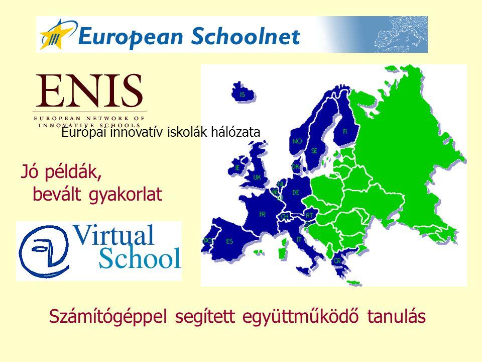 Számítógéppel segített együttműködő tanulás Jó példák, bevált gyakorlat Európai innovatív iskolák hálózata