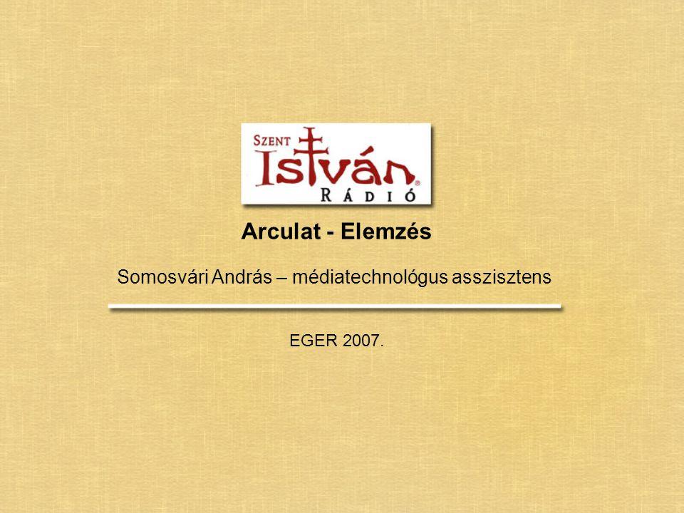 Arculat - Elemzés Somosvári András – médiatechnológus asszisztens EGER 2007.