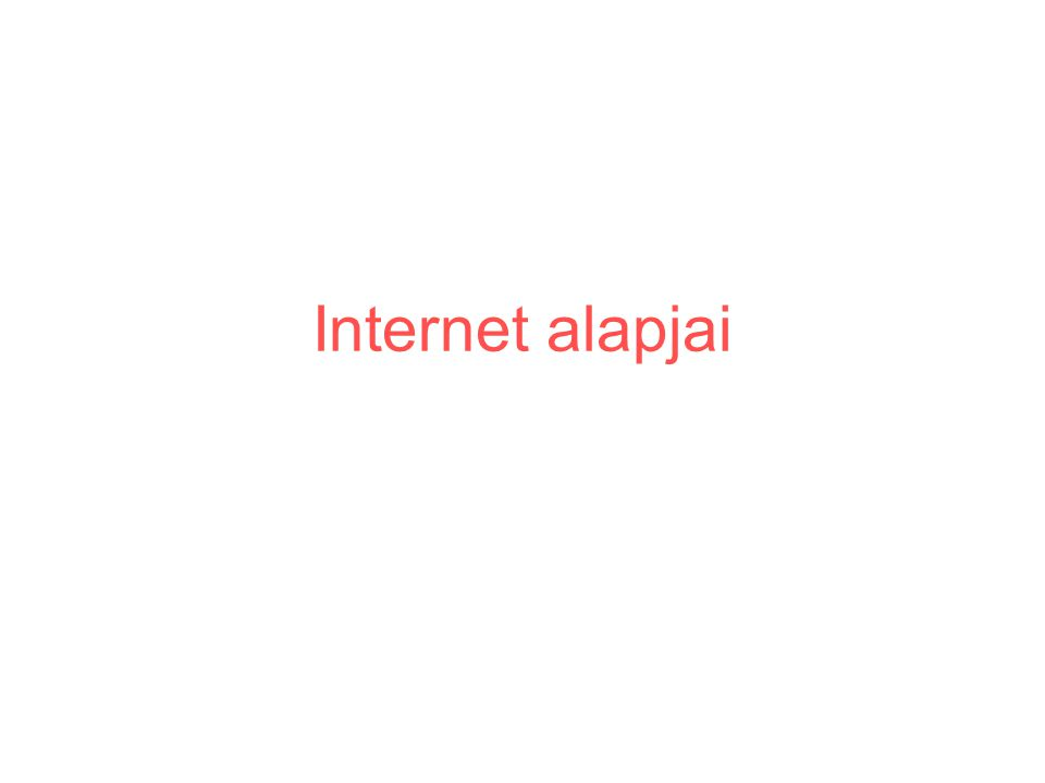 Internet alapjai