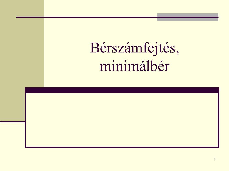 1 Bérszámfejtés, minimálbér