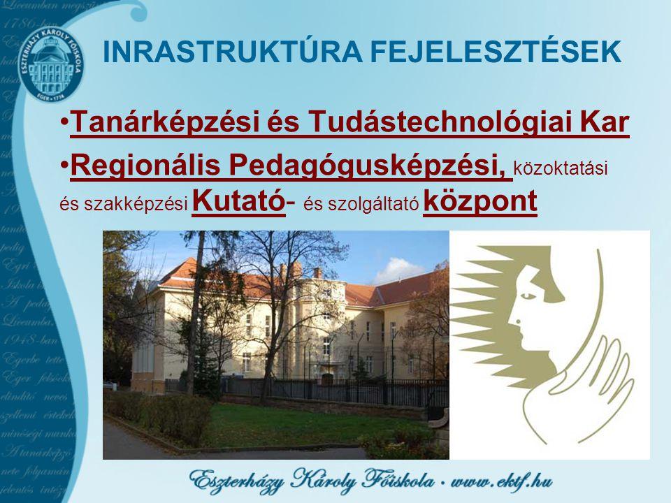 INRASTRUKTÚRA FEJELESZTÉSEK Tanárképzési és Tudástechnológiai Kar Regionális Pedagógusképzési, közoktatási és szakképzési Kutató- és szolgáltató közpo