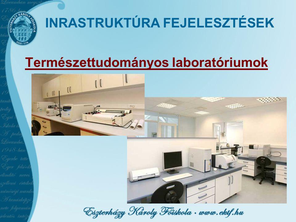 INRASTRUKTÚRA FEJELESZTÉSEK Természettudományos laboratóriumok