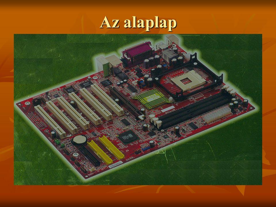 Processzor (CPU) A processzor feladata a számítógép összes egységének irányítása.