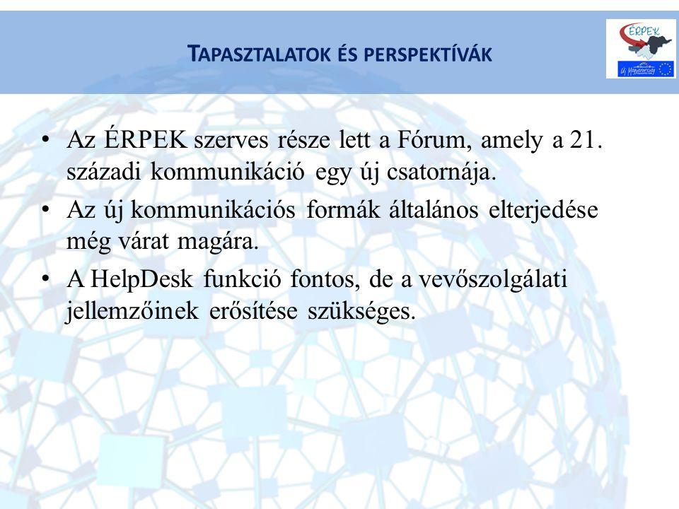 Az ÉRPEK szerves része lett a Fórum, amely a 21. századi kommunikáció egy új csatornája.
