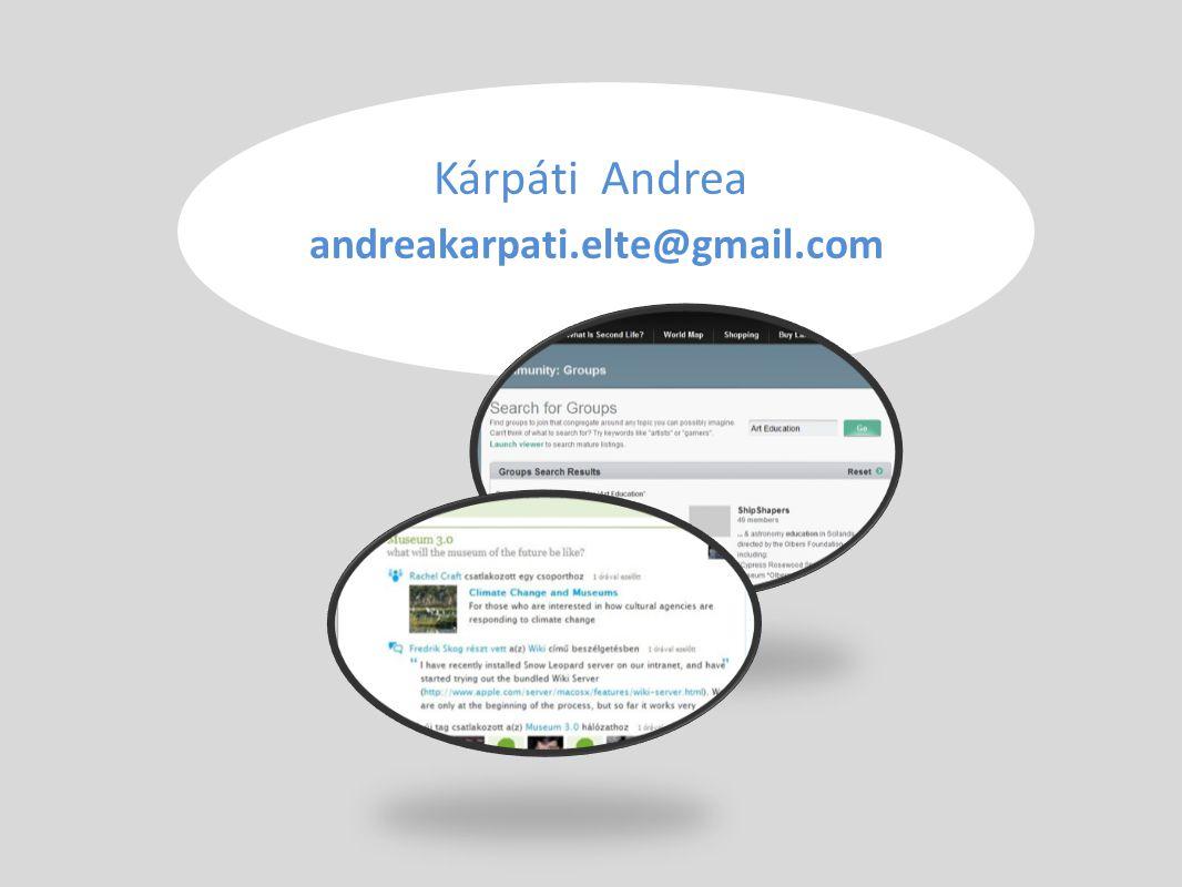 Kárpáti Andrea andreakarpati.elte@gmail.com