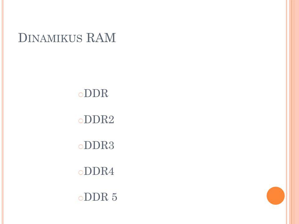DDR4 2012 (jelen van most is, de még nem önálló egységként, úgy majd csak 2012-re) 1,2 V-os feszültség 2133 MHz-es órajel 2013-ban: órajel növekedése (2667 MHz) Működési feszültség csökken (1V-ra próbálják)