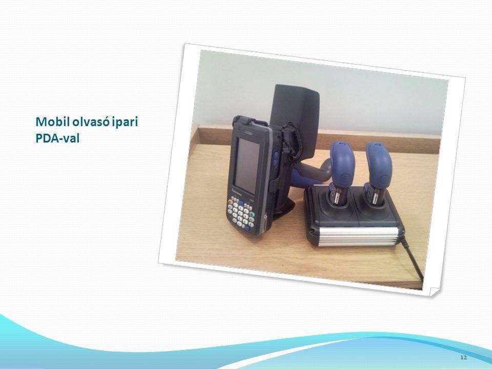 Mobil olvasó ipari PDA-val 12