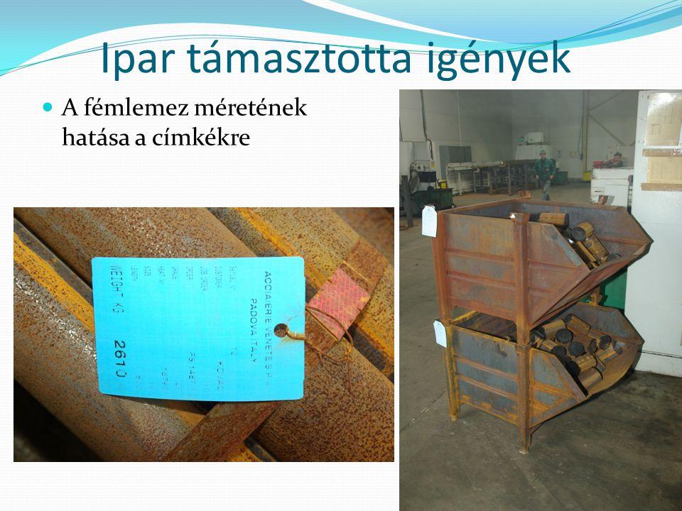 Ipar támasztotta igények A fémlemez méretének hatása a címkékre 22