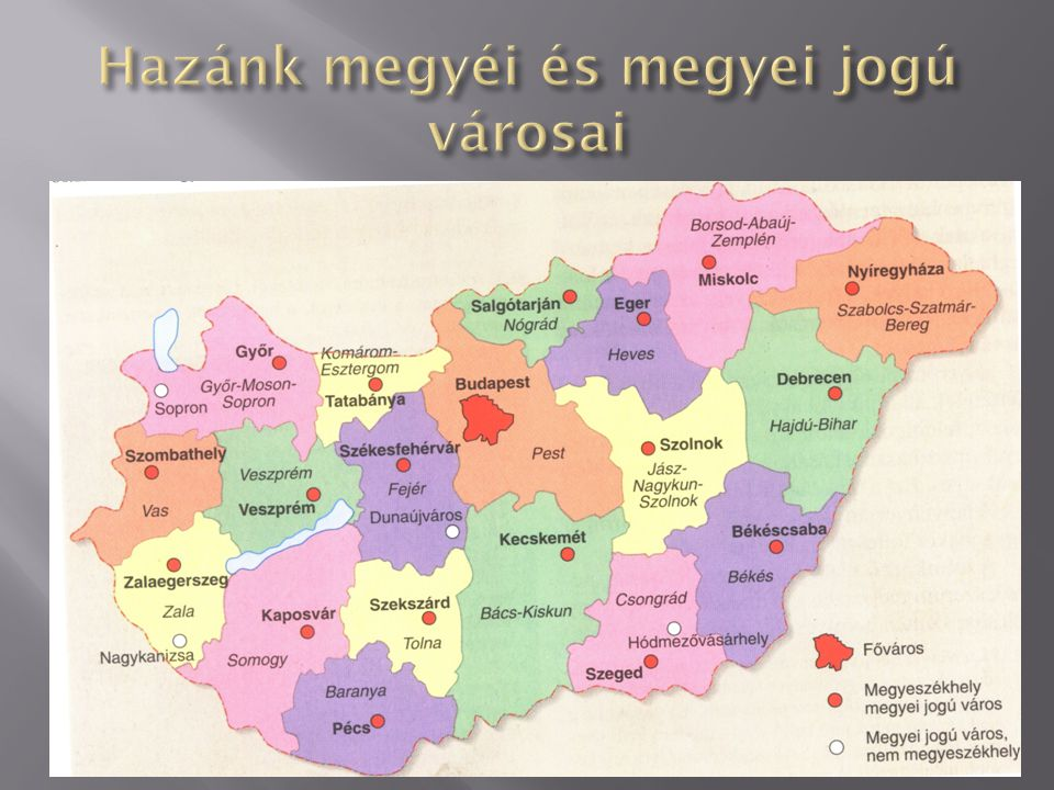 EEgysége Szent István óta a MEGYE akkor királyi vármegye Hazánkban ebből 19 van.