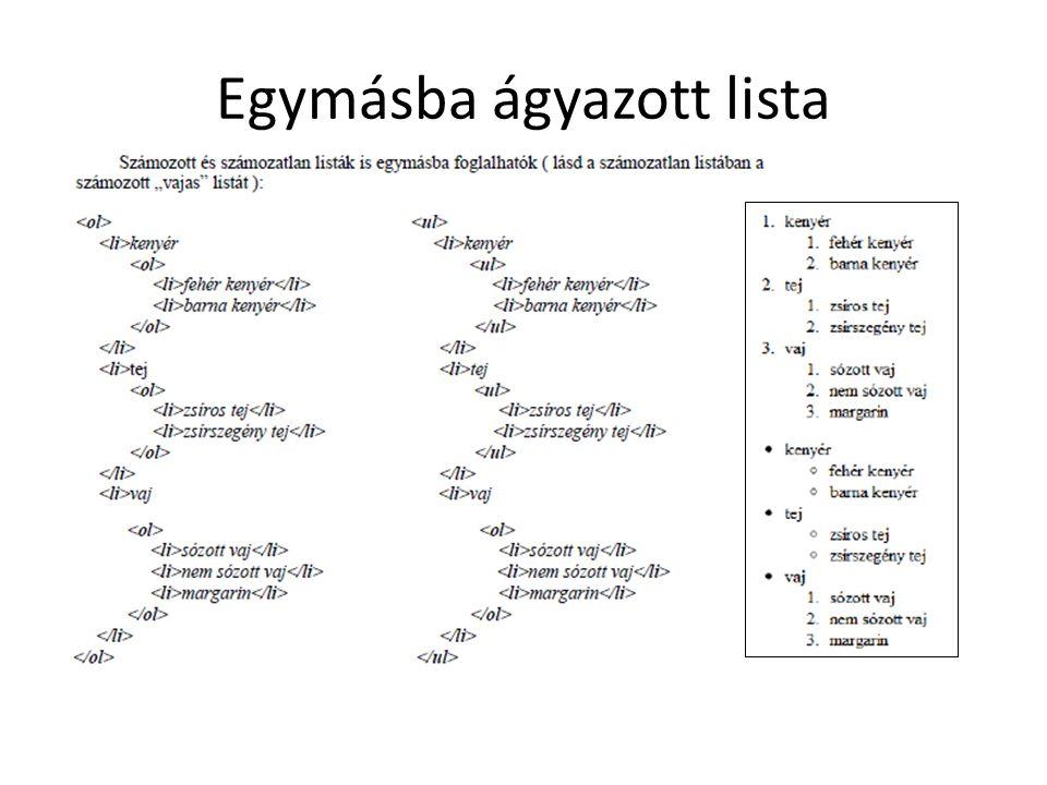 Rendhagyó rendezett listák 1. kezdőszám megadása