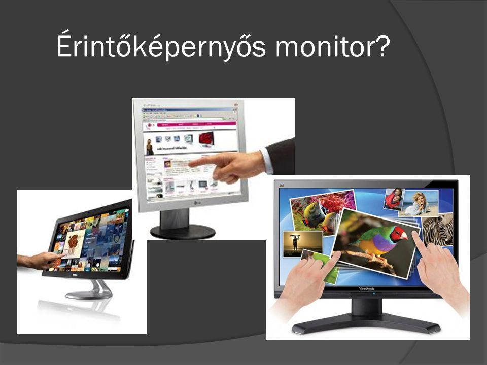 Érintőképernyős monitor