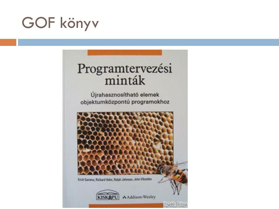 """GOF1  """"Program to an interface, not an implementation!  """"Programozz felületre implementáció helyett!"""