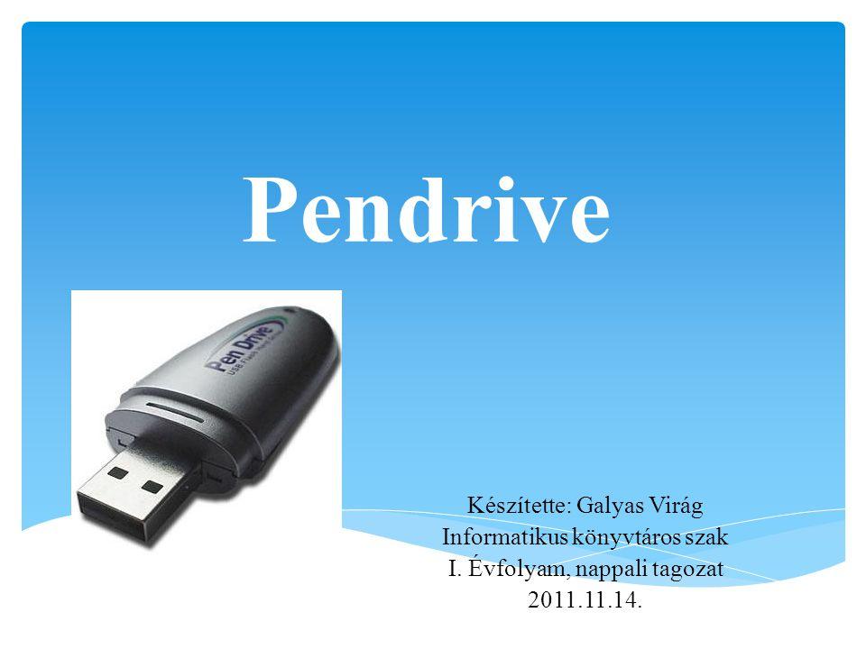 Története A pendrive kifejlesztésének elsőségét több cég is magának igényli.