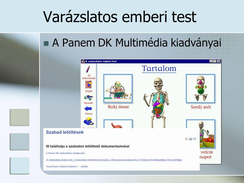 Varázslatos emberi test A Panem DK Multimédia kiadványai