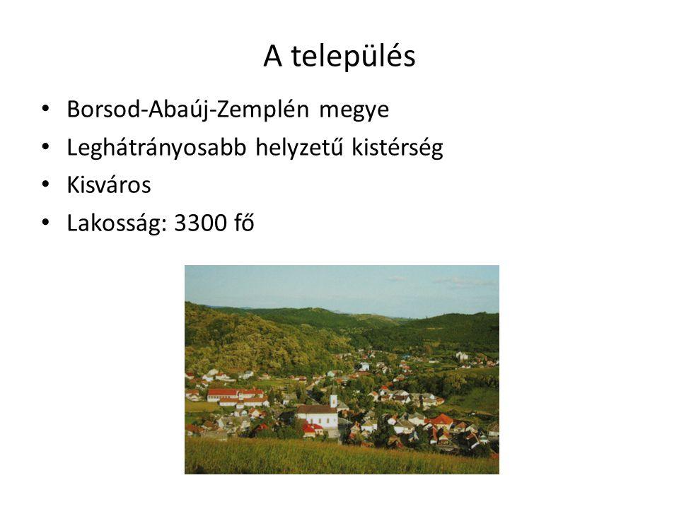 A település Borsod-Abaúj-Zemplén megye Leghátrányosabb helyzetű kistérség Kisváros Lakosság: 3300 fő