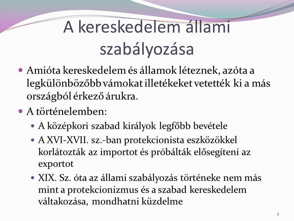Csúszóvám Elsősorban a mezőgazdasági termékeke importjánál alkalmazzák (pl.