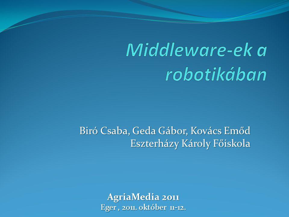 Biró Csaba, Geda Gábor, Kovács Emőd Eszterházy Károly Főiskola AgriaMedia 2011 Eger, 2011. október 11-12.