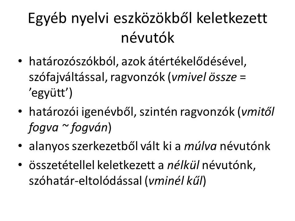 Az ősmagyar kor végén feltehető névutóállomány belől, benn, belé; *roγol, roγot (.