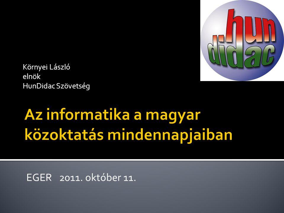 Környei László elnök HunDidac Szövetség EGER 2011. október 11.