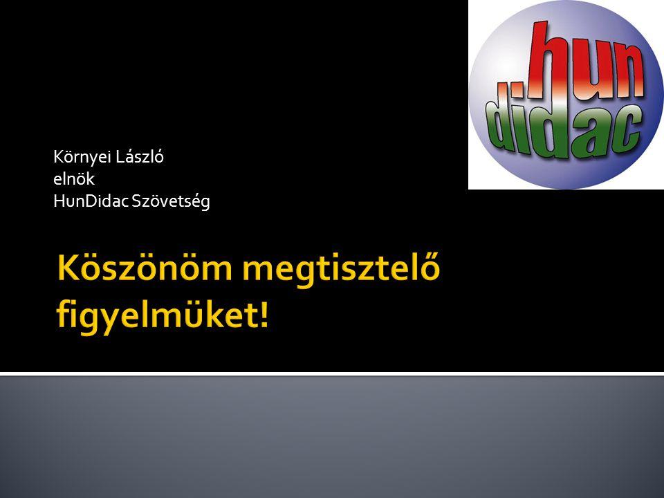 Környei László elnök HunDidac Szövetség