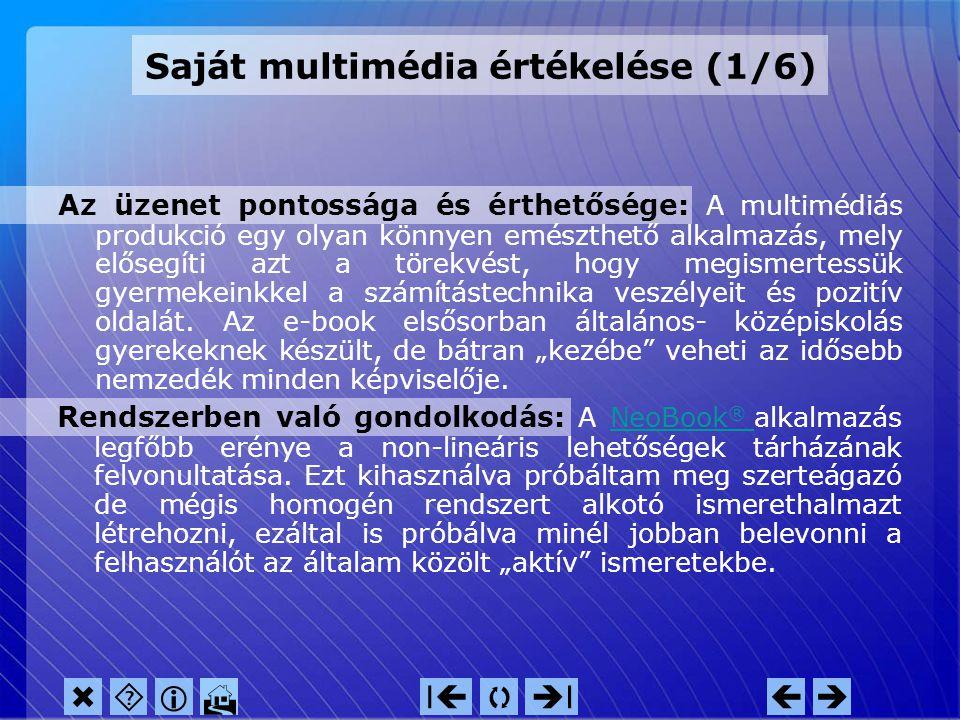 1. Multimédia értékelésMultimédia értékelés Tartalom 2.