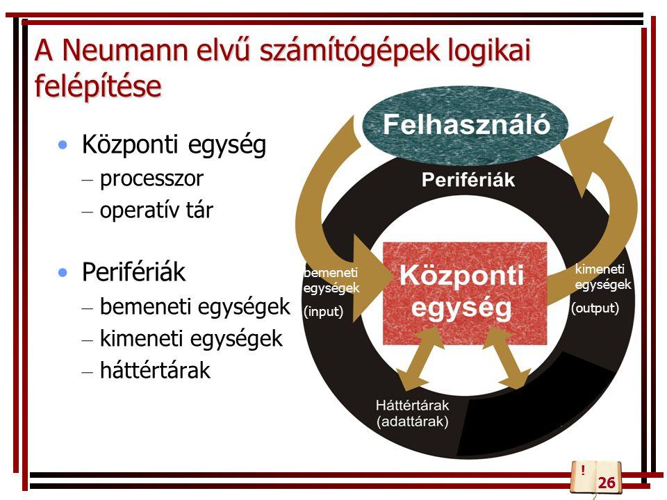 Periféria csatlakozók Az alaplappal a perifériák kapcsolata lehet vezetékes, vagy vezeték nélküli.