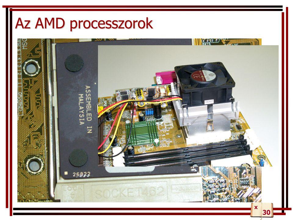 Az AMD processzorok 30 x