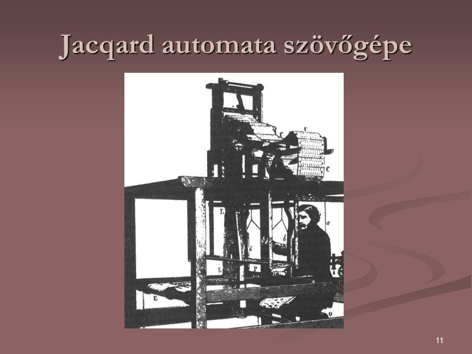 11 Jacqard automata szövőgépe