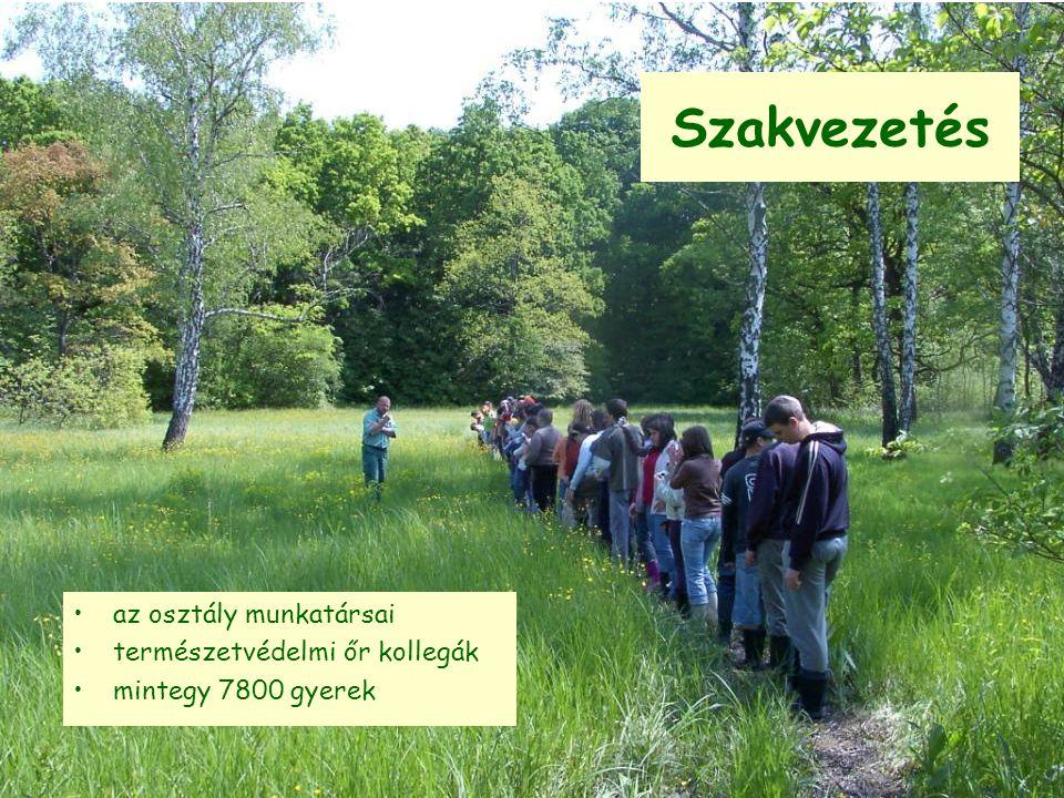 Szakvezetés az osztály munkatársai természetvédelmi őr kollegák mintegy 7800 gyerek