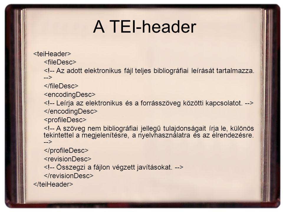 A TEI-header
