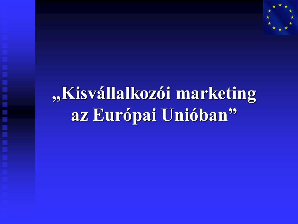 """""""Kisvállalkozói marketing az Európai Unióban"""