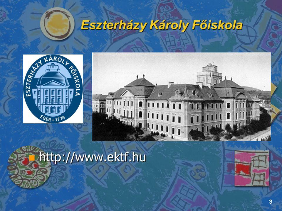 Matematikai és Informatikai Intézet http://matinf.ektf.hu 4