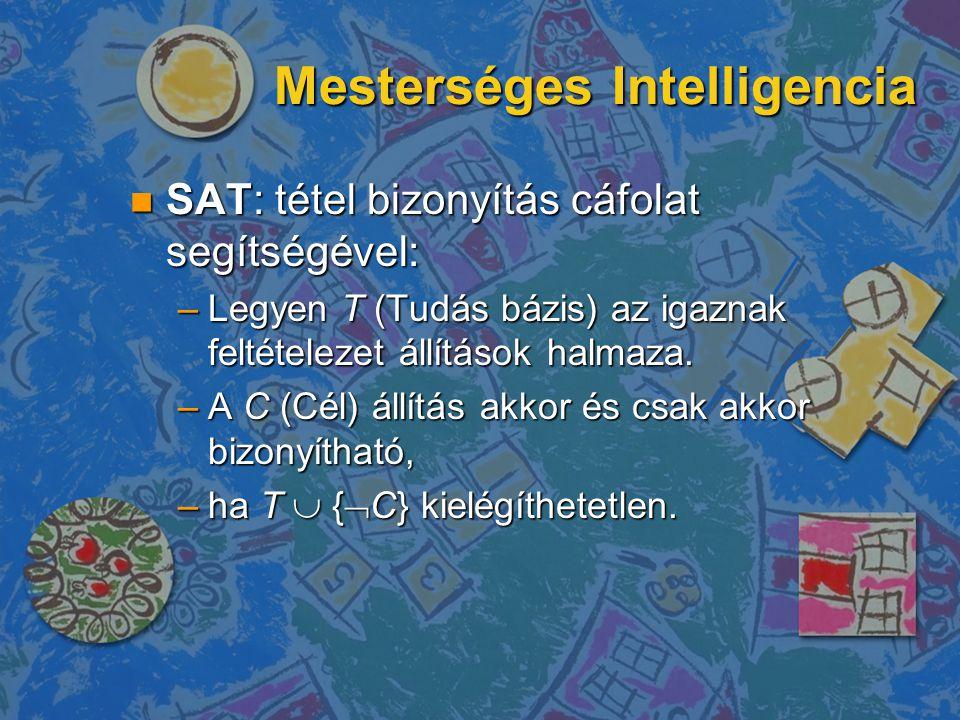 2-Literal reprezentáció Multi Domain Logic and its Applications to SAT n Minden 2 változós logikai fg.
