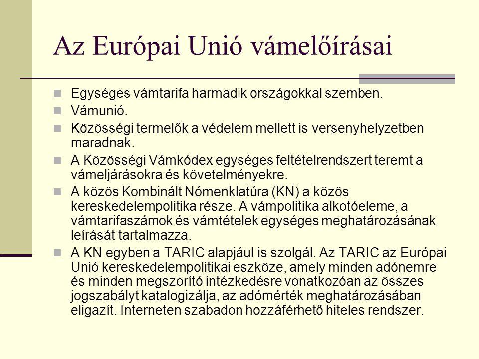 Nemzetközi szerződéses kötelezettségek III. Egyéb szabadkereskedelmi megállapodások - EFTA, CEFTA, Törökország, Izrael, Törökország, Jugoszlávia (ipar