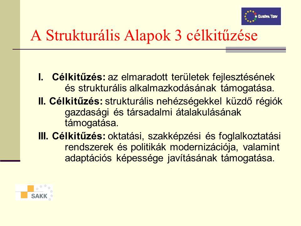 Strukturális Alapok A Strukturális Alapok szétosztása: Az Európai Unió a társadalmi elmaradottsággal, a súlyos gazdasági és társadalmi válsággal, ille