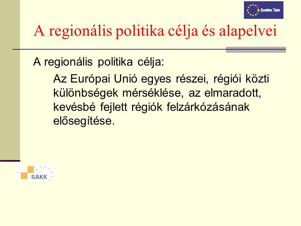 A Strukturális Alapok működése A regionális politika céljai és alapelvei A Strukturális Alapok és a Kohéziós Alap feladatai Közösségi Kezdeményezések;