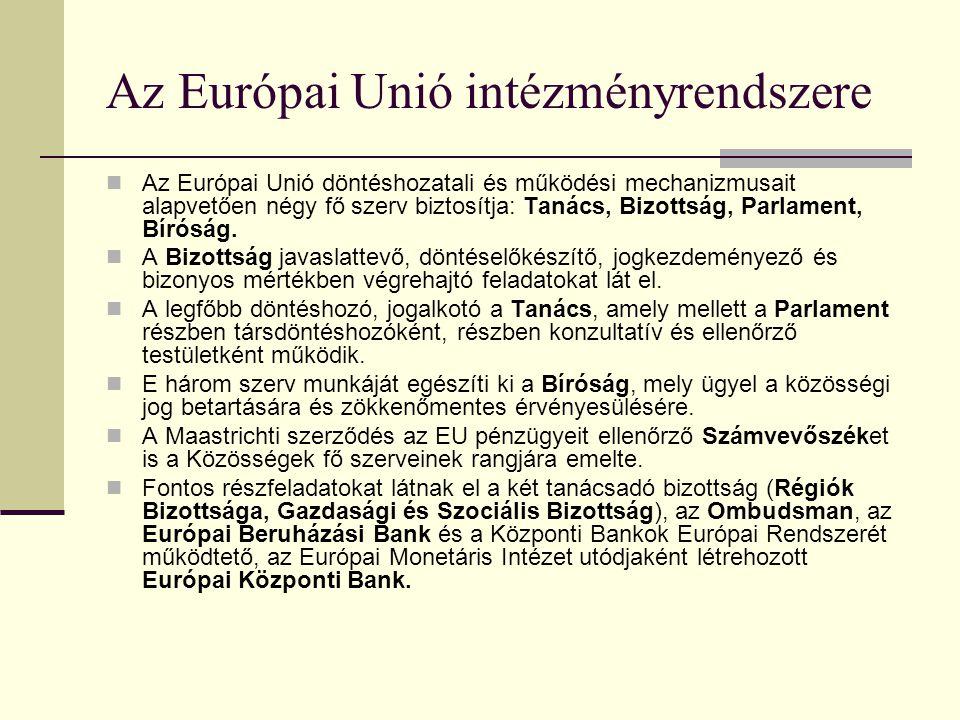 Az Európa Unió intézményrendszere és joga Az Európai Unió intézményrendszere A közösségi jog alapjai Győr 2005. szeptember 14. Ponácz György Márk SAKK