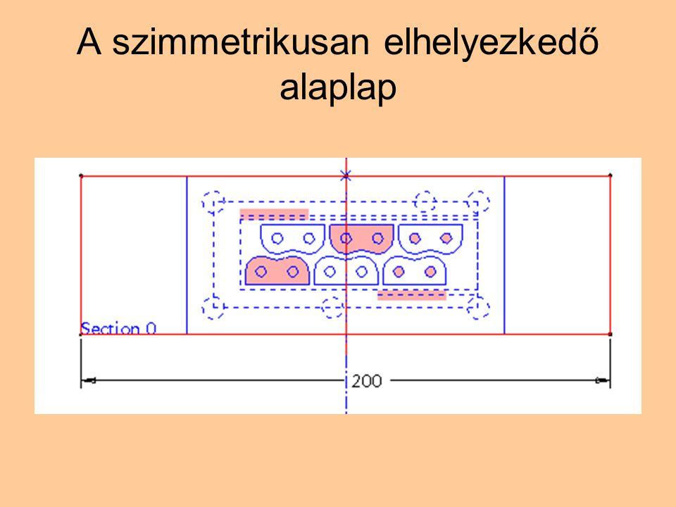 A szimmetrikusan elhelyezkedő alaplap