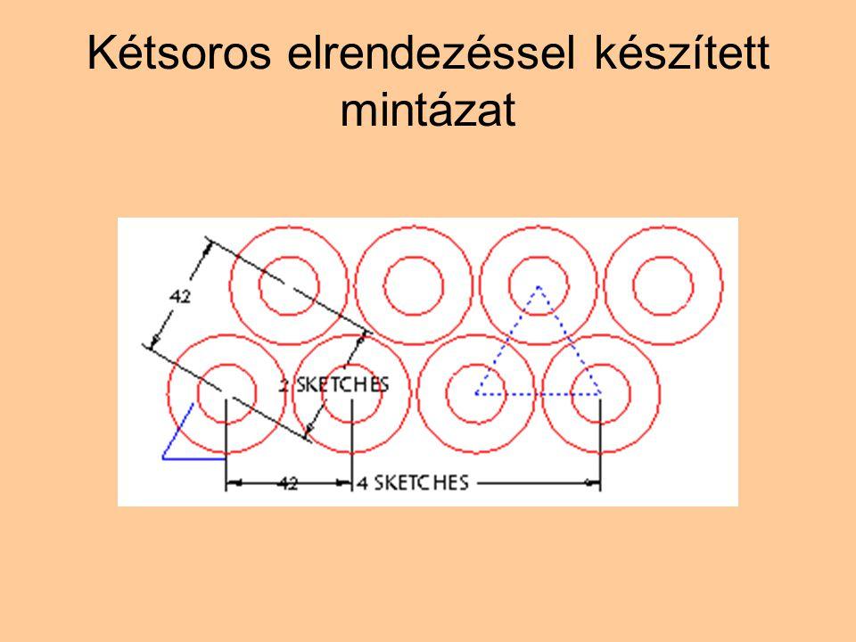 Kétsoros elrendezéssel készített mintázat