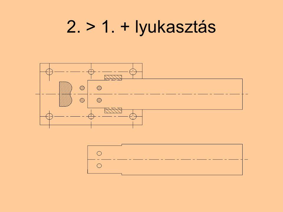 2. > 1. + lyukasztás