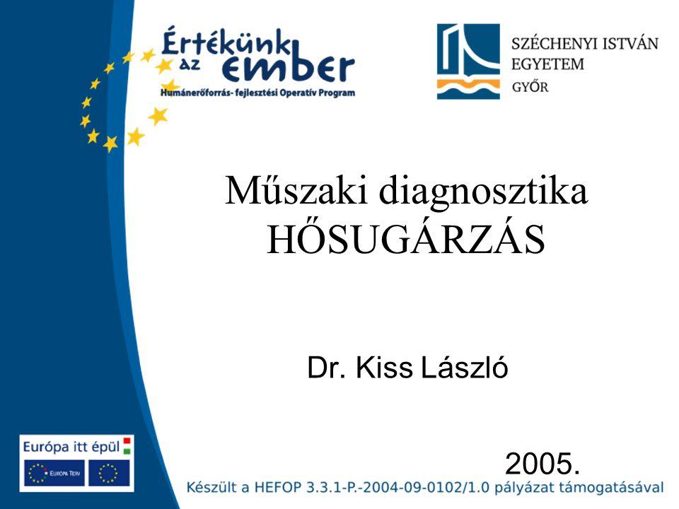 2005. Műszaki diagnosztika HŐSUGÁRZÁS Dr. Kiss László
