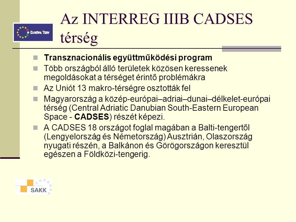 INTERREG IIIA - Magyarország, Románia, Szerbia A határmenti térség területi, fizikai és infrastrukturális egységének megerősítése Határmenti infrastruktúra fejlesztése Környezet- és árvízvédelmi együttműködés A piacok integrálódását és a helyi közösségek kapcsolatát megerősítő együttműködési kezdeményezések támogatása Üzleti infrastruktúra és üzleti szolgáltatások fejlesztése Vállalatközi együttműködés segítése Intézmények és közösségek közötti együttműködés ösztönzése Kutatás-fejlesztési és humánerőforrás-fejlesztési együttműködés
