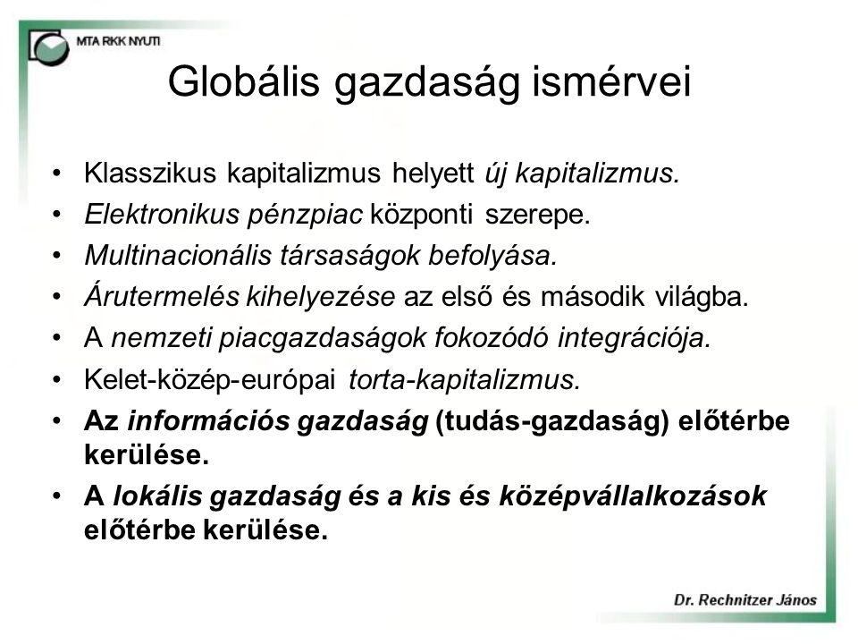 Globális társadalom ismérvei A nemzetállamok helyett kultúraközpontú nemzetek.