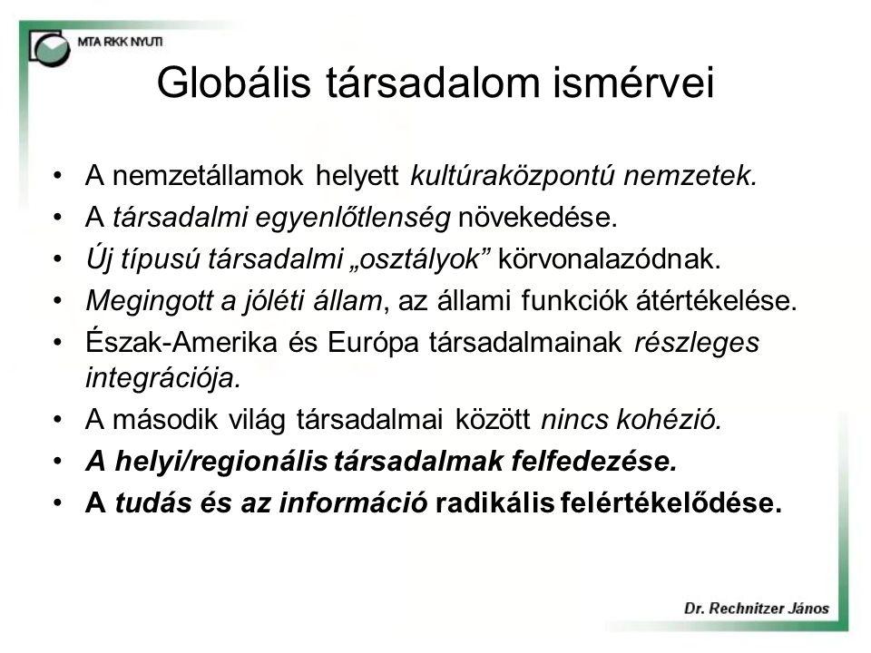 Európa reagálása a globális kihívásra Bangemann jelentés (1994) Paradigmaváltás, új korszakhatár.