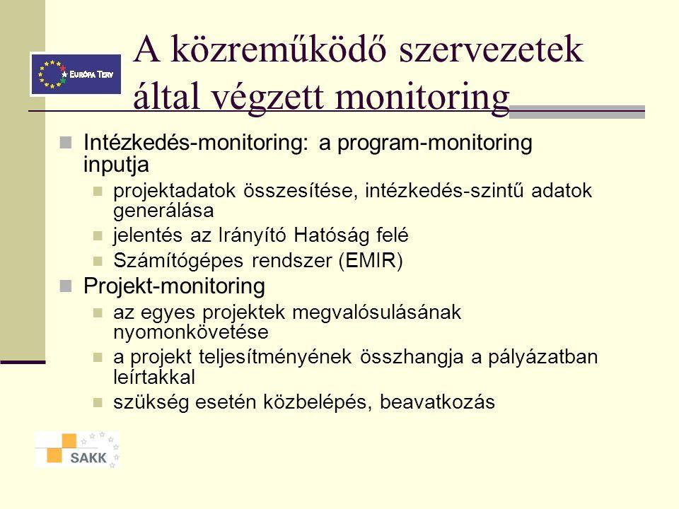 Pályázó Közreműködő/ végrehajtó szervezet ESZA Kht. Közvetítő/végrehajtó szervezet ÁFSZ Közvetítő/végrehajtó szervezet OMAI Közvetítő/végrehajtó szerv